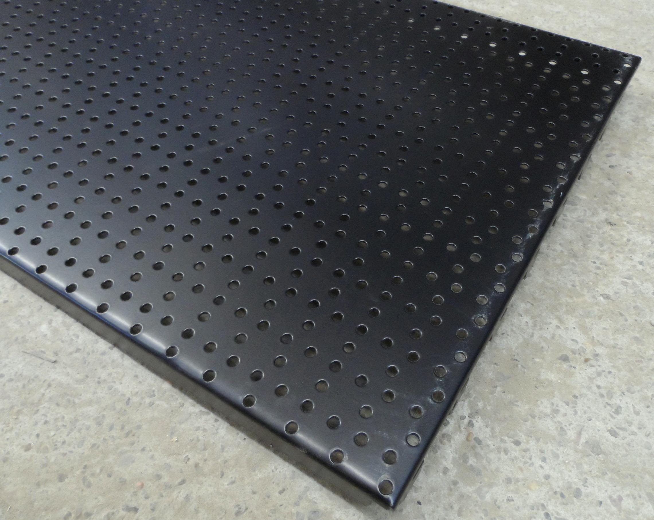 4x lochw nde lochwand 125 x 40 cm tegometall tego schwarz werkstatt werkzeug ebay. Black Bedroom Furniture Sets. Home Design Ideas